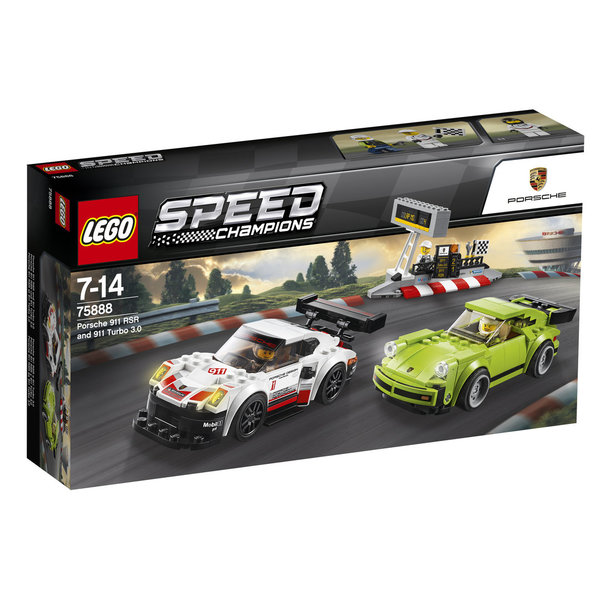 LEGO® Speed Champions 75888 Porsche 911 RSR und 911 Turbo 3.0