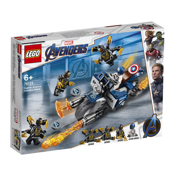 LEGO® Marvel Avengers 76123 Captain America: Outrider-Attacke